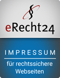 erecht24-siegel-Impressum und disclaimer-blau